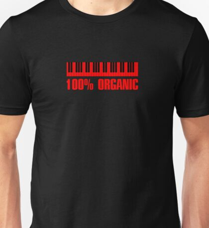 100 organic red Unisex T-Shirt