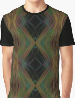 Abstract Triangles Black Green Blue Graphic T-Shirt