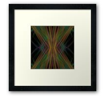 Abstract Triangles Black Green Blue Framed Print