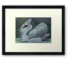 The Swan Also Rises Framed Print