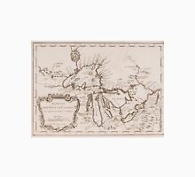 Vintage Map of The Great Lakes (1757) Unisex T-Shirt