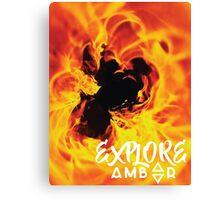 Explore Amber Canvas Print