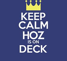 Keep Calm Hoz is On Deck [Royal Blue] Womens Fitted T-Shirt
