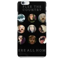 Flee The Country Pillow iPhone Case/Skin