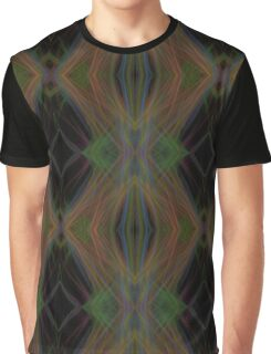 Fractal Abstract Psychedelic Black Energy Waves Graphic T-Shirt