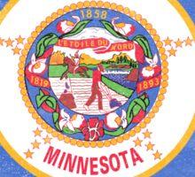 Minnesota State Flag Distressed Vintage Sticker