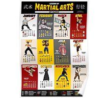 Legends of Martial Arts - The 2017 Calendar Poster