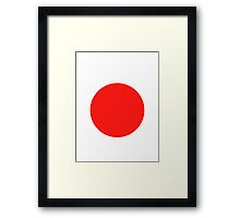Japanese Flag Top - I Love Japan - T-shirt - Nippon Tīshatsu Framed Print
