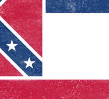 Mississippi State Flag Distressed Vintage Sticker