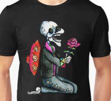 Romantic Singing Skeleton Mariachi with Rose Unisex T-Shirt