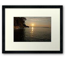 Grand Island Sunset Framed Print