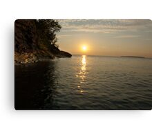 Grand Island Sunset Canvas Print