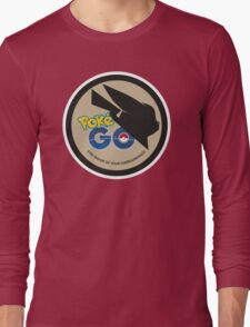 Pokemon Go MashUp Evangelion Logo Long Sleeve T-Shirt