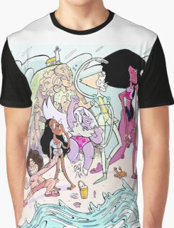 Universe Beach Day Graphic T-Shirt