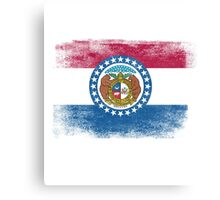 Missouri State Flag Distressed Vintage  Canvas Print