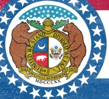 Missouri State Flag Distressed Vintage  Sticker