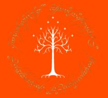 Ringed White Tree of Gondor Kids Clothes