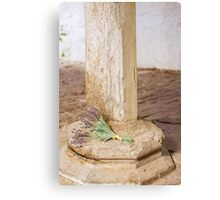 Lavender by pillar Canvas Print