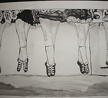 Irish Dancers by Colin  Laing