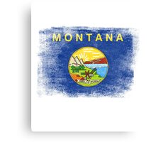Montana State Flag Distressed Vintage  Canvas Print