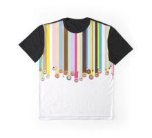 Rainbow Doughnut Rain Graphic T-Shirt