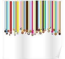 Rainbow Doughnut Rain Poster