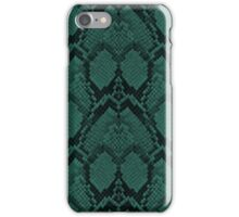 Tiffany Aqua and Black Python Snake Skin Reptile Scales iPhone Case/Skin