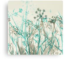 Teal 'n Gray Canvas Print