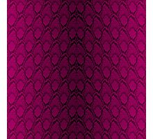 Hot Neon Pink and Black Python Snake Skin Reptile Scales Photographic Print