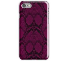 Hot Neon Pink and Black Python Snake Skin Reptile Scales iPhone Case/Skin