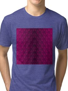 Hot Neon Pink and Black Python Snake Skin Reptile Scales Tri-blend T-Shirt