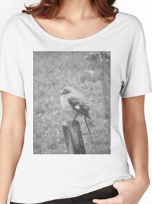 The Bird Black and White Women's Relaxed Fit T-Shirt