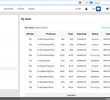 My sales history Option in Fantacy http://www.fancyclone.net by hitasoft