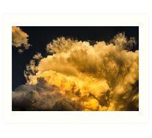Golden Thunderhead Art Print