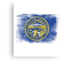 Nebraska State Flag Distressed Vintage Canvas Print