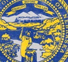 Nebraska State Flag Distressed Vintage Sticker