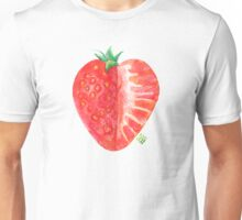 Sweet strawberry, watercolor and crayons Unisex T-Shirt