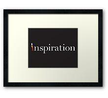 Inspiration Candle Framed Print