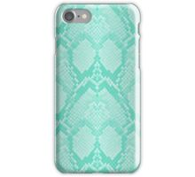 Tiffany Aqua Blue and White Python Snake Skin Reptile Scales iPhone Case/Skin