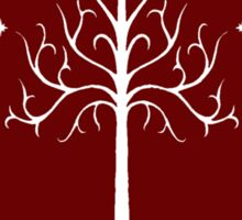 White/Burgundy Tree of Gondor Sticker