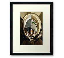 Travel Time Girl Framed Print