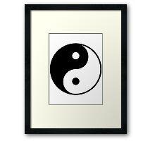 yingyang Framed Print