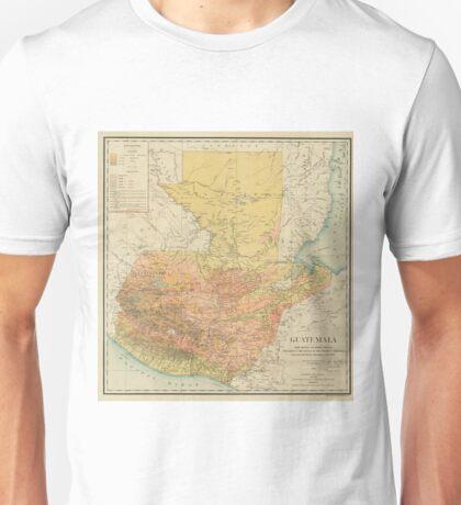 Vintage Map of Guatemala (1902) Unisex T-Shirt