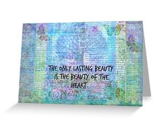 Rumi heart quote Greeting Card