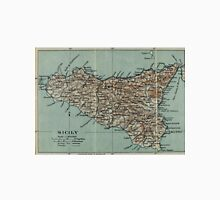 Vintage Map of Sicily Italy (1911) Unisex T-Shirt
