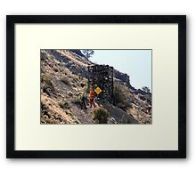 FYI.......no, it doesn't!! Framed Print