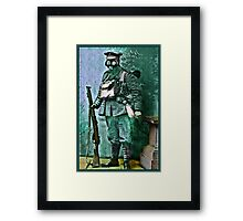 Infantry Soldier in Full Gear Portrait Framed Print