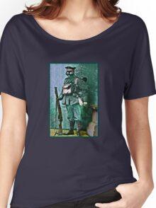 Infantry Soldier in Full Gear Portrait Women's Relaxed Fit T-Shirt
