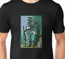 Infantry Soldier in Full Gear Portrait Unisex T-Shirt