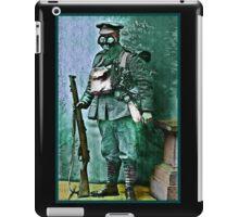 Infantry Soldier in Full Gear Portrait iPad Case/Skin